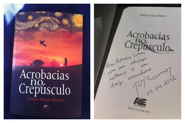 O livro e a dedicatória enviados à Itália, em 2012